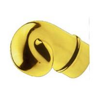 Lavi 00-606/1H, Bar Railing, Scroll Finials, Solid Brass, 2-3/4 W x 2-7/8 H, Fits Railing dia.: 1-1/2, Bright Brass