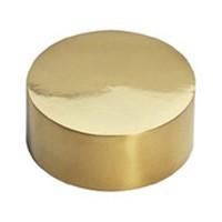Lavi 00-600W/2, Bar Railing, Outer End Cap, Solid Brass, 2-1/8 D x 7/8 H, Fits Railing dia.: 2in, Bright Brass