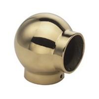 Lavi 00-702/2, Bar Railing Fitting, Ball 90-Degree Ell Traditional Fitting, Solid Brass, 3-1/4 D x 3-1/4 L, Fits Railing Diameter: 2in, Bright Brass