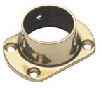 Lavi 00-511/1H, Bar Railing Cut Flanges, Solid Brass, 3 Dia. x 2 W, Fits Railing dia.: 1-1/2, Bright Brass