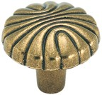 Amerock BP1337-O77 Round Design Knob, dia. 1-7/32, Burnished Brass, Natural Elegance