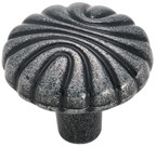 Amerock BP1337-WI Round Design Knob, dia. 1-7/32, Wrought Iron, Natural Elegance