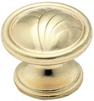 Amerock BP1356-O74 Round Design Knob, dia. 1-1/4, Brushed Brass, True Elegance Series