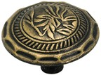 Amerock 1355AB Round Design Knob, dia. 1-3/8, Antique Brass, True Elegance Series