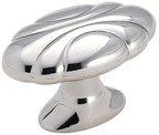 Amerock BP1396-26 Oval Knob, Length 1-1/2, Polished Chrome, Radiance Series