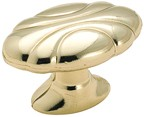 Amerock BP1396-3 Oval Knob, Length 1-1/2, Polished Brass, Radiance Series