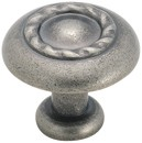 Amerock BP1585-WN Round Design Knob, dia. 1-1/4, Weathered Nickel, Inspirations