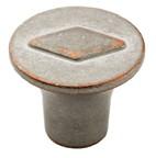 Amerock BP24006-WNC Round Design Knob, dia. 30mm, Weathered Nickel Copper, Galleria