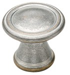 Amerock BP24009-WNC Round Ring Knob, dia. 30mm, Weathered Nickel Copper, Galleria