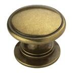 Amerock BP53012-BB Round Ring Knob, dia. 1-1/4, Burnished Brass, Allison Series