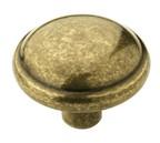 Amerock BP53000-BB Round Ring Knob, dia. 1-1/4, Burnished Brass, Allison Series