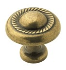 Amerock BP53022-BB Round Design Knob, dia. 1-1/4, Burnished Brass, Allison Series