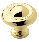 Amerock BP53022-3 Round Design Knob, dia. 1-1/4, Polished Brass, Allison Series