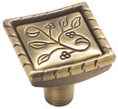 Amerock BP4466-EB Square Knob, Length 1-1/8, Elegant Brass, Vineyard Series