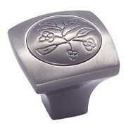Amerock BP4475-PWT Square Knob, dia. 1-1/8, Pewter, Vineyard Series