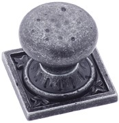 Amerock BP4484-WID Round Design Knob, dia. 1-1/4, Wrought Iron Dark, Ambrosia