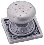 Amerock BP4484-WN Round Design Knob, dia. 1-1/4, Weathered Nickel, Ambrosia
