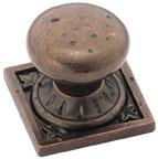 Amerock BP4484-RBZ Round Design Knob, dia. 1-1/4, Rustic Bronze, Ambrosia