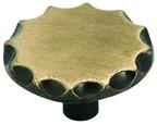 Amerock 497ABS Round Design Knob, dia. 1-1/16, Antique Brass, Allison Series