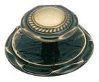 Amerock BP778-AE Round Design Knob, dia. 2in, Antique Brass, Vintage Series