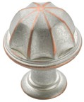 Amerock BP53035-WNC Round Design Knob, dia. 1in, Weathered Nickel Copper, Eydon