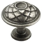 Amerock BP53027-AP Round Design Knob, dia. 33mm, Aged Pewter, Galleria