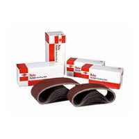 WE Preferred 0675150610961 10 Ruby Portable Sanding Belts, Aluminum Oxide on X-Weight Cloth, 4 x 24, 150 Grit