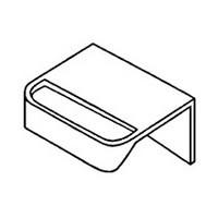 Meier 230-01-BE, Plastic Toe Kick Handle, Adhesive Mount, Camar Series, White