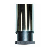 "Prisma Table Leg Set 2-3/8"" Dia. x 27-3/4"" H Brushed Steel Set of 4 Peter Meier 330-70-ST"
