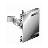 Hardware Concepts 5696-000, Plastic Screw Mount Toe Kick Clip, 2-1/8 H x 1-1/2 W, White Clip with Black Screw-In Plate
