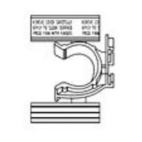 Hardware Concepts 5898-000, 2-Finger, Toe Kick Clip with Spline & Adhesive, Black