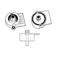 Hardware Concepts 5815-000, Screw Mount Plastic Socket with 15mm Dowel & Flange Lip, Black