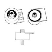 15mm Dowel Mount Plastic Socket with Flange Lip Black Hardware Concepts 5815-500R
