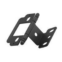 """Partial Wrap Free Swing Inset Ball Tip Hinge for 3/4"""" Thick Doors Flat Black Amerock PK3180TBFB"""