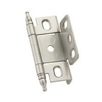 Amerock PK3175TMG10, Full Inset, Full Wrap Free Swing Hinge, Minaret Tip for 3/4 Thick Doors, Satin Nickel