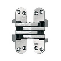"SOSS #218, 4-5/8"" Invisible Hinge, Dull Brass, 218US4"