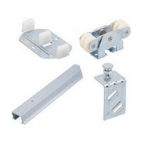 Hettich 113 336 600, 72in Sliding By-Pass Door Track Set, 1-3/8 Thick Doors, 150lb Cap