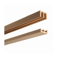 KV P2419 TAN 48, Plastic Upper Guide & Lower Track Set for 3/4 By-Passing Doors, Upper Size: 1-15/16 W x 13/16 H x 48 L, Tan, Knape and Vogt