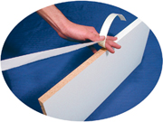 "Edgebanding PVC  White, 1/2"", 250 LF/Roll, FastCap FE.SP.1/2-250.WH"