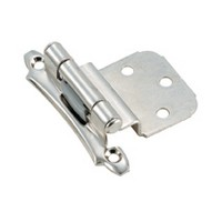 Amerock BP7928G10, Face Mount, Self-closing Hinge, Imperia Design, 3/8 Inset, Satin Nickel