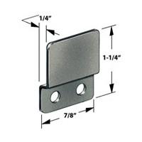 CompX Timberline SP-258-3 Timberline Lock Accessories, Strike Plate for Double Door Locks, Black