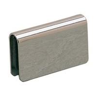 Wood Technology 7011.001.060, Strike Plate for Glass Doors, Flush Style, 29/32 H x 1-9/16 W x 5/16 D, Black