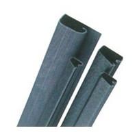 Custom Plastics CPF-31500T, 96 L Plastic, J-Type Wire Channel with Self Adhesive Tape, Black