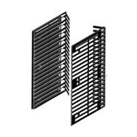 Titus 004193.835.010, VHS Storage Rails, Left Hand, 12-5/8 H x 6-1/4 D, VHS Capacity: 10