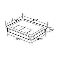 Hardware Concepts 6395-058, Rectangle Plastic 2-Piece, Grommet & Cap, Bore Hole: 4-1/4 L x 3-1/4 W, Brown