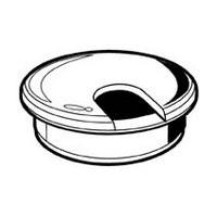 Hardware Concepts 6730-010, Round Plastic 2-Piece, Grommet & Cap, Bore: 2in dia., White