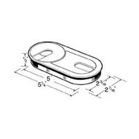 Hardware Concepts 6385-058, Oval Plastic Grommet, Round Cap & Oval Cap, 3-Piece Set, Bore Hole: 5 L x 2-3/16 W, Brown