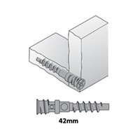 Titus 000180.885.001 Bulk-100, System 1, Double Locking Carcase Screw, 42mm Long, Zinc