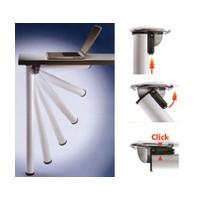 Meier 656-70-AO, 2in dia., Foldable Steel Table Leg Set, 27-3/4 Height with 1-1/8 Adjustment, Click Series, Aluminum, 4-Legs Per Set