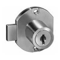 CompX C8704-C346A-14A, Disc Tumbler Deadbolt Locks for Doors, Surface Mounted, Cylinder Length 15/16, Bolt Travel 11/32, Keyed #346, Bright Nickel